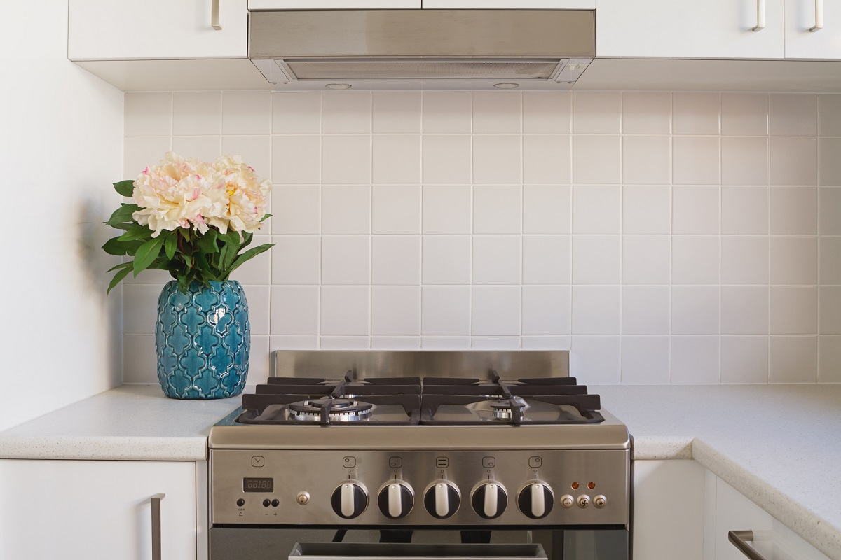 kitchen area with tiles