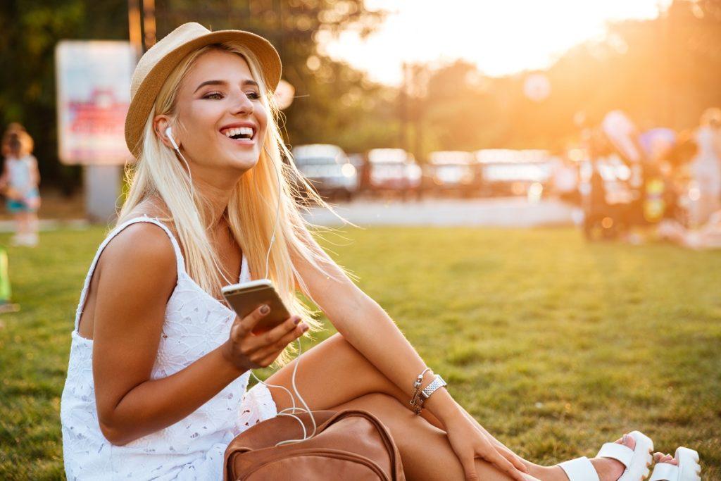 woman at a park