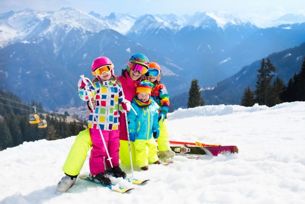 family vacation skiing trip