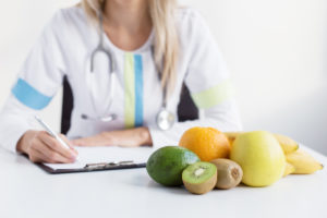 nutritious food in front of doctor