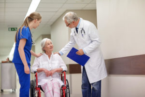 old woman at hospital